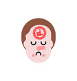 loser stamp on forehead unlucky man sad guy vector image vector image