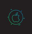 media network social apple icon design vector image