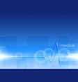 medical background with heartbeat line vector image vector image