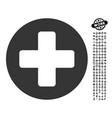 medicine icon with work bonus vector image vector image