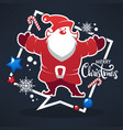 merry christmas happy santa claus image bright vector image vector image