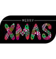merry xmas card vector image vector image