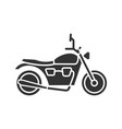 motorbike glyph icon vector image vector image