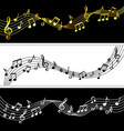 music notes flow doodle note drawing sheet vector image