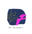 my planet space star nature vector image