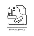 office supplies linear icon vector image vector image