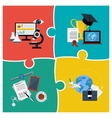 Online education science and business vector image