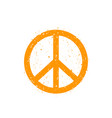 peace sign vector image vector image