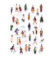 people in autumn apparel flat characters vector image