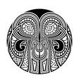 polynesian maori ethnic circle tattoo vector image vector image