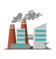 power plant building industrial factory vector image vector image