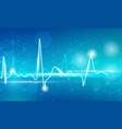 pulse line on blue vector image vector image