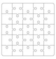puzzle piece on white background board game vector image vector image