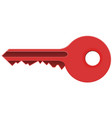 red key vector image
