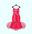 red party dress with decor vector image vector image