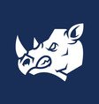 Rhino Head Silhouette vector image vector image