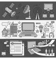 Satellite Internet Global Network Providers vector image vector image