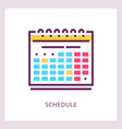 schedule icon planning and timemanagment vector image vector image