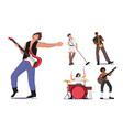 set rock band performing on stage electric vector image
