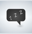 speech bubble with zzz logo simple flat style vector image
