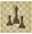 sport chess logo old background vector image vector image