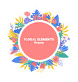 spring floral frame isolated on white background vector image
