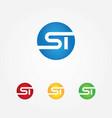 st logo letter vector image vector image