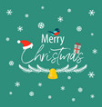 the inscription of a merry christmas with a vector image vector image