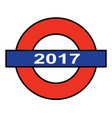 the london underground 2017 vector image vector image