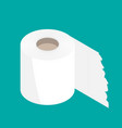 toilet paper flat icon modern flat icon vector image vector image