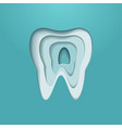 tooth logo poster modern styled vector image vector image