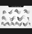 transparent waved lines vector image