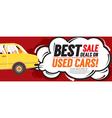 Used Car Best Sale Deal 6250x2500 pixel Banner vector image vector image