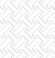 White 3D diagonal T shapes vector image vector image