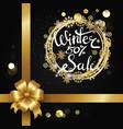 winter sale 50 elegant poster vector image