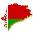 3d map of belarus vector image