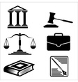 Justice and law icons vector image
