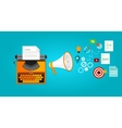 content marketing seo optimization online blog vector image