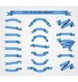 Design elements Set of Blue ribbons or vector image
