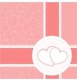valentine heart wedding card background vector image