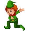 a boy wearing elf costume vector image