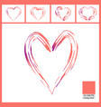 abstract paint brush pattern of hearts isolated on vector image vector image
