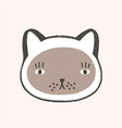 adorable face cat lovely cartoon muzzle of vector image vector image