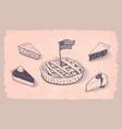 american pie vector image vector image