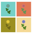 assembly flat flower aster vector image vector image