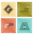 assembly flat shading style icon nature disaster vector image vector image