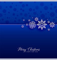 awesome blue snowflakes christmas background vector image vector image