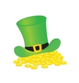 Background with leprechaun or gnome on patrick day vector image