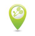 badminton GREEN map pointer vector image vector image