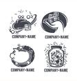 banking emblems vector image vector image